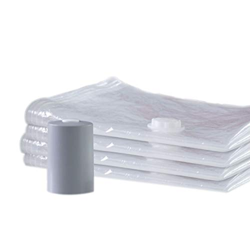 PAC 'N STACK Handheld Vacuum Sealing Storage with Bags, 4 Pack, Original Version