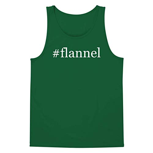 The Town Butler #Flannel - A Soft & Comfortable Hashtag Men's Tank Top, Green, Small