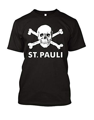 St.Pauli T Shirt Fight Fascism Eat Nazi'S Black Ultras T-Shirt Cross Bones