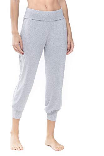 Mey Serie Sleepy&Easy 16017-519 Women's Light Grey Melange Pyjama Pant 44