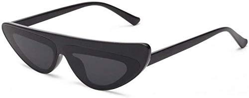ZYIZEE Gafas de Sol Gafas de Sol para Mujer con Montura pequeña Ojo de Gato Triangular para Hombre Gafas de Sol para Mujer Uv400-C1_Black_Grey