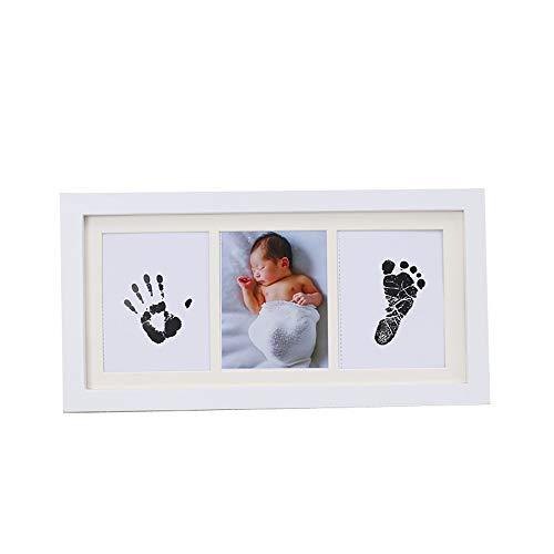 Kit cadre photo empreinte de main et empreinte béb Souvenirs du nouveau-né Capturing encre mains et des pieds Prints Enfants bébé Handprint boue bébé Année Vieux Pleine Lune anniversaire Commémoration