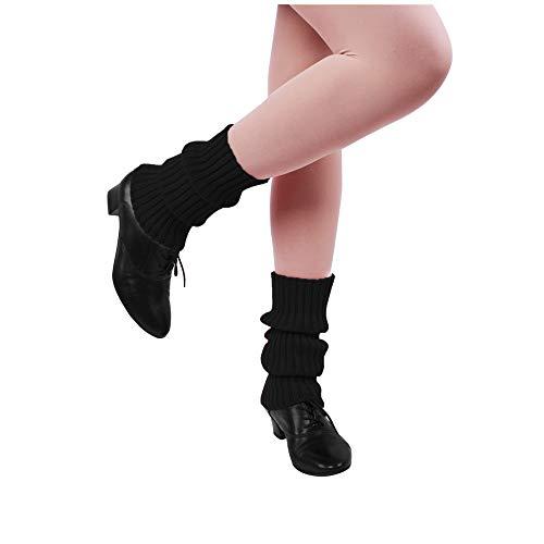 Nanxson Damen Beinwärmer Kurz Beinstulpen Winter Warm Socken Stulpen TTW0004 (schwarz