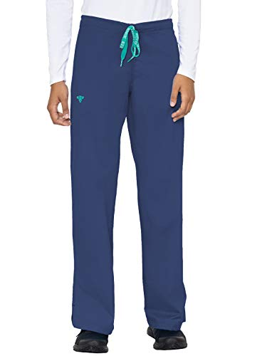 Med Couture Signature Drawstring Pant for Women, New Navy/Spearmint, Medium