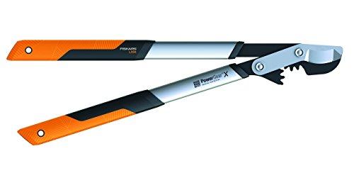 Fiskars PowerGear X Bypass-Getriebeastschere für frisches Holz, Antihaftbeschichtet, Gehärteter Präzisionsstahl, Länge: 64 cm, Schwarz/Orange, LX94-M, 1020187