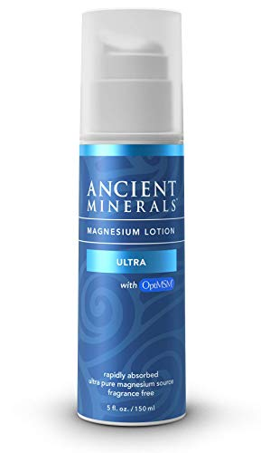 Ancient Minerals Magnesium Lotion Ultra with MSM Pure Genuine Zechstein Magnesium Lotion Supplement for Topical Application (5oz)