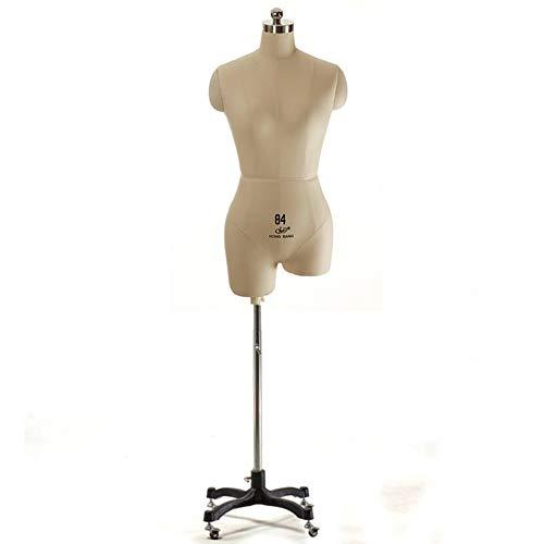 Maniqui Costura Mujer Modista Vestido de Maniquí de Costura para Mujer, Cuerpo de Maniquí de Costura de Espuma de Poliestireno Ligero con Ruedas para Pantallas de Decor del Hogar de Windowshop