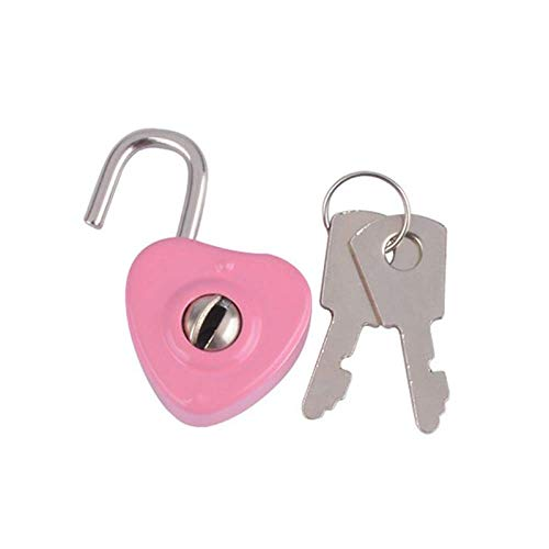 Mini-Vorhängeschlösser, Schlüsselschloss mit Schlüssel, Gepäckschloss für Reißverschlusstasche, Rucksack, Basteltagebuch