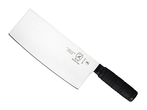 Mercer Culinary M21020 Asian Collection Santoprene Handle Chinese Chef's Knife, 8-Inch