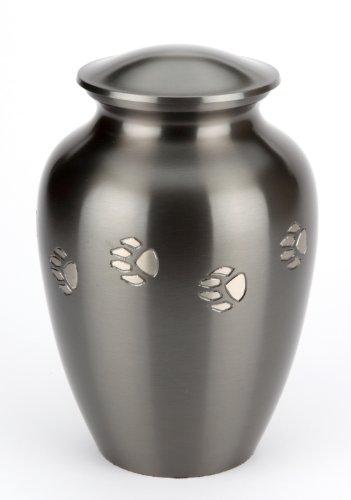 Urns UK Jarrow Urne für Haustiere 15,24cm Zinnoptik Schwarz
