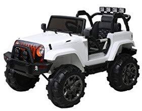 Actionbikes Motors Offroad Jeep Adventure - 2 x 35 Watt Motor - Reifen mit Weichgummiring - Fernbedienung (Weiß)