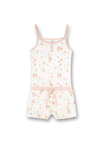 Sanetta Mädchen Jumpsuit Allover beige Pyjamaset, White Pebble, 140