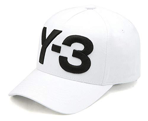 QIANWEIXI Baseball Cap Herren Weißer Gestickter Buchstabe Y-3 Vati-Hut-Hip Hop-Baseballmütze-Justierbare Strapback-Hutsportkappe Im Freien