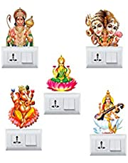 DivineDesigns Indian God & Goddess Switch Board Stickers