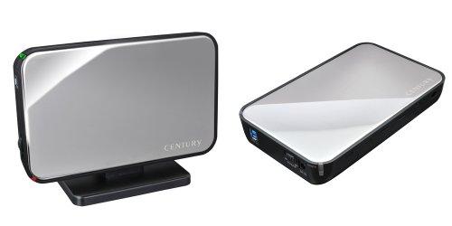 {センチュリー 1分BOX USB3.0 SATA6G ミラーシルバー 3.5インチSATA-HDDケース COM35U3S6G}