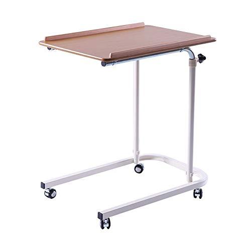 Wangczdz Klaptafel, nachtkastje, ziekenhuis-verzorgingstafel, ontbijtdienblad, kan omhoog en omlaag bewegen riemschijf, geschikt voor outdoor, camping, picknick, grillparty, tafel
