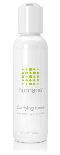 Humane Clarifying Toner BHA Salicylic Acid 2% Pore Minimizer & Facial Exfoliant, 4 Ounce