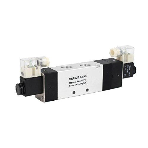 Aexit AC 24V 3 Posición 5 Válvula solenoide de control de aire neumática neutral Neutral 4V430P-15 (d57e71f8e621ab71d6b5eb153740e067)