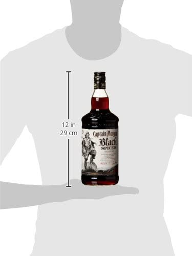 Captain Morgan Black Spiced Rum (1 x 1 l)