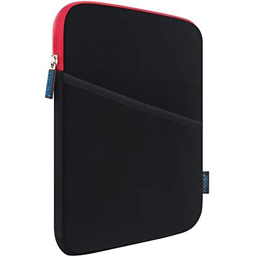 Lacdo Funda de Tableta para 10,9 Pulgada New iPad Air 4, 10,2' New iPad 2019-2020, 11' New iPad Pro, 10,5' 9,7' iPad Pro/iPad Air 3 2 1 / iPad 6 5 4 3 2, Galaxy Tab 10,1 Bolsa Protectora, Rojo