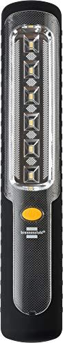 Brennenstuhl Akku LED Handleuchte HL 300 AD / Dynamo Taschenlampe mit Akku und USB Kabel (300lm, Akku Arbeitsleuchte mit bis zu 9h Leuchtdauer, integrierterr Haken und Magnet)
