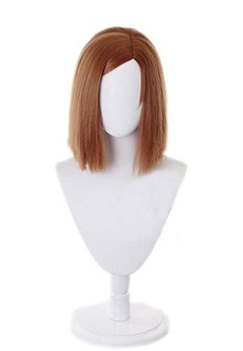Rach Anime Jujutsu Kaisen Wigs Heat Resistant Thick Hair wig Costume (Kugisaki Nobara, one size)