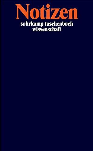 Notizbuch suhrkamp taschenbuch wissenschaft: Notizen (Cover Bild kann abweichen)