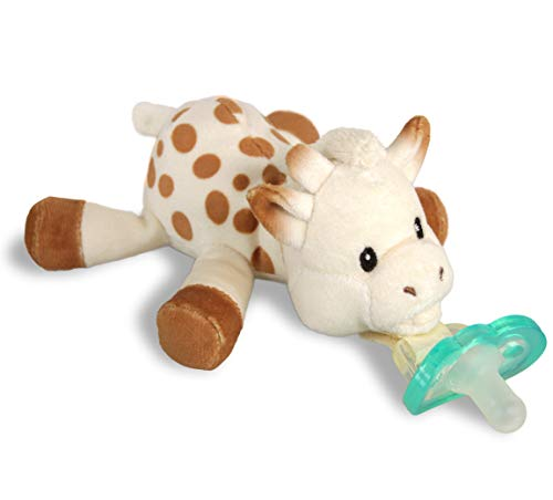 RAZBABY Sophie La Girafe Razbuddy Holder w/Removable JollyPop Baby Pacifier  0M  Bpa Free  Pacifier Made in USA