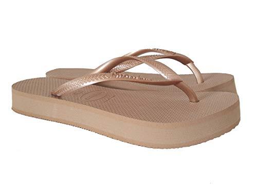 Havaianas Slim Flatform, Chanclas Mujer, Oro Rosa, 39/40 EU