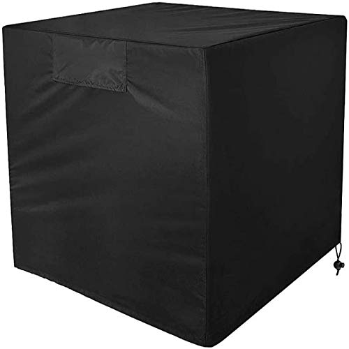 Woohot Air Conditioner Covers for Outside Units - 34 x 34 x 30 inches Durable AC Cover Water Resistant Fabric Windproof Design Outdoor Furniture Universal Cover with Air Pockets