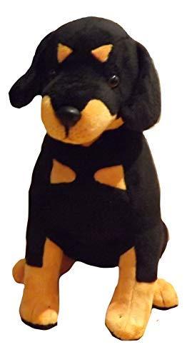 Rottweiler Stuffed Animal Dog - 16' Sitting Plush Toy Rottweiler