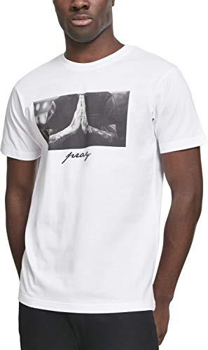 Mister Tee Herren T-Shirt Pray Tee, Weiss (White), Gr. XXXL