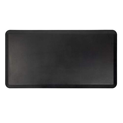 Lubvlook Anti Fatigue Comfort Floor Mat, 20' x 39', 3/4' Thick Ergonomic Home Office Kitchen Standing Adjustable Height Desk Mat, 20' x 39', Black