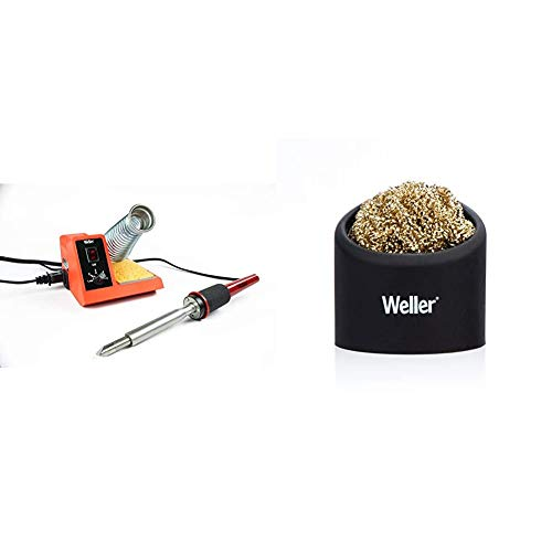 Weller WLC200 80-Watt Soldering Station with Brass Sponge Tip Cleaner