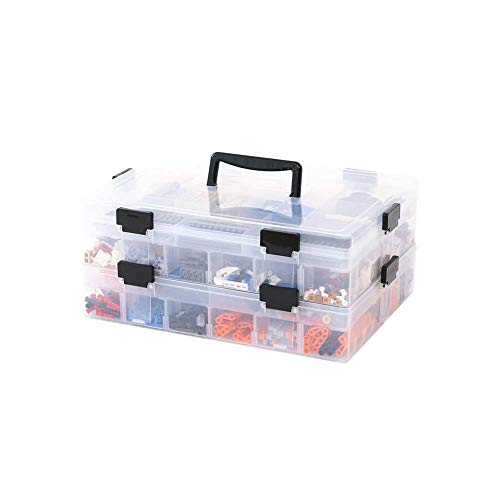Kunststoff Aufbewahrungsbox mit Deckel & Sortierboxen mit 15 Gitter Plastik Box