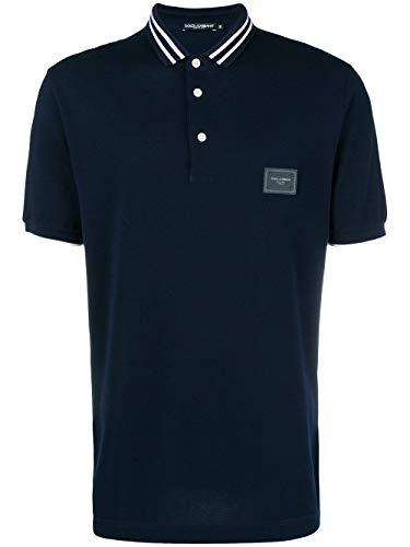 Poloshirt aus Baumwolle von Dolce Gabbana, G8Jd2T.G7Ope, Blau 46