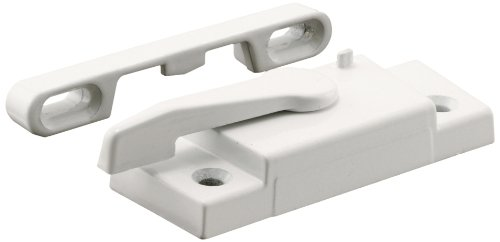 Prime-Line Products F 2626 Window Sash Lock with Keeper, Right Hand, White, Better Bilt