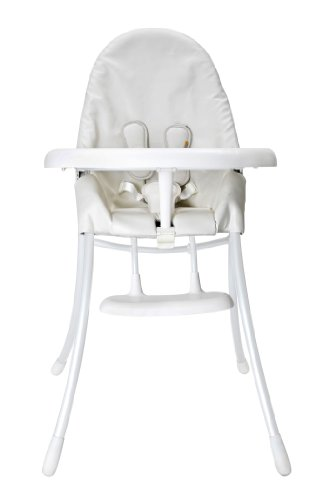 Bloom Chaise Haute Nano Chassis Blanc et Assise Coco