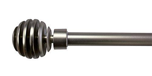 Trim & Tram Soho - Kit de Barra Extensible níquel Mate, níquel, 110 à 210 cm