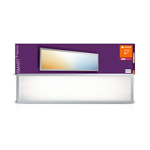 LEDVANCE Smart+ Panelleuchte 30 x 120cm, ZigBee, warmweiß bis tageslicht (2700K - 6500K), Direkt kompatibel mit Echo Plus und Echo Show (2. Gen.), Kompatibel mit Philips Hue Bridge