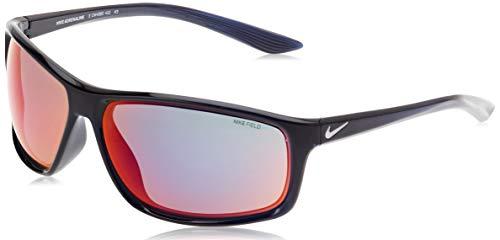 Nike Adrenaline E CW4680 colore 451 (Nero-Blu lente Rossa Flash) Occhiali da Sole Unisex