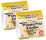Sapporo Ichiban White Chicken Broth Japanese Tonkotsu Ramen, 3.7 oz x 5 count (Pack of 2)
