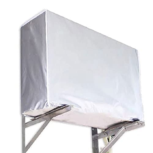 Copertura protettiva per condizionatore d'aria, copertura impermeabile per finestra copertura universale da appendere con rivestimento riflettente al calore (grande)