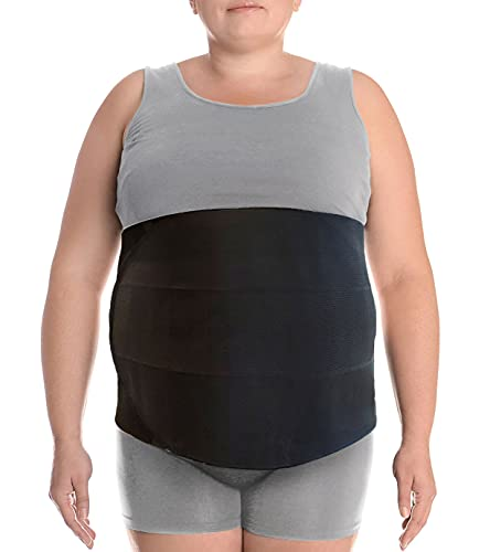 """Wide Abdominal Binder Belly Wrap – Plus Size Postpartum Tummy Tuck Belt Provides Slimming Bariatric Stomach Compression or to Help Hernia or Post Surgery Healing & Support (XXL 3XL Stomach 47"""" to 70"""""""