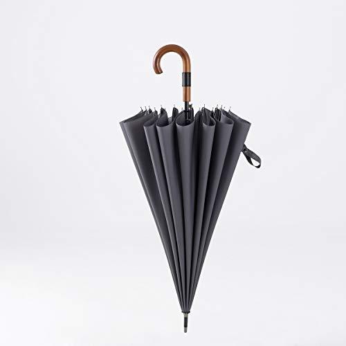 A1-Brave Parapluies, Umbrella Umbrella 16K Long Hommes d'affaires Forte Pluie Big Umbrella Cuissards Garde Grand Golf Parapluies Coupe-Vent Parapluie (Color : Gray)