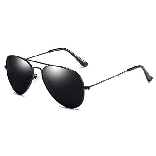 Gafas de Sol Gafas De Sol Clásicas De Piloto para Hombre, Gafas De Sol Polarizadas De Rayos De Metal Vintage para Mujer, Colores De Espejo, Gafas De Conducción Masculinas, Uv400, Negro