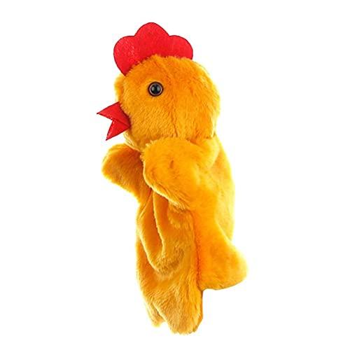 Animal de la historieta del pollo de la marioneta de la felpa de pollo marioneta de mano de la felpa de juguetes de pollo marioneta de peluche interactivo de marionetas para la Escuela Infantil