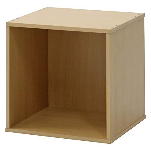 不二貿易 キューブボックス 幅34.5cm ナチュラル 組み合わせ自由 81899