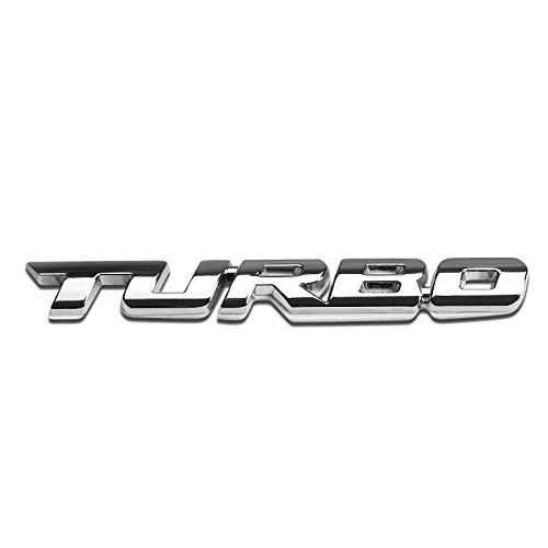 Pair M Logo Aluminum Chrome Car Side Front Sticker Emblems Badge Decal