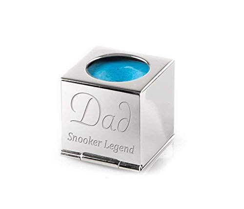 Personalised Silver Snooker / Pool Chalk Holder - Engraved by Engrave It Online